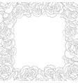 dianthus caryophyllus - carnation flower outline vector image vector image