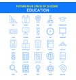 education icons - futuro blue 25 icon pack vector image