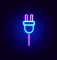 electricity neon sign vector image