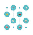 flat icons foam garbage container housewife and vector image vector image
