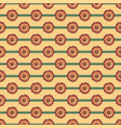 floral pattern with flower on striped background vector image