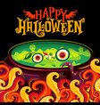 halloween party invitation poster witch vector image vector image