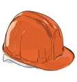 Hand-drawn constructions helmet icon EPS8 vector image vector image
