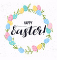 happy easter greeting card easter eggs vector image vector image