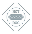 hot dog logo simple gray style vector image vector image