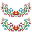 Hungarian floral folk pattern - Kalocsai vector image vector image