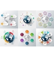 infographics global template set vector image vector image