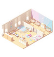 isometric infant daycare classroom vector image vector image