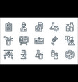 laboratory and science line icons linear set vector image vector image