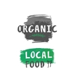 local food label vector image vector image
