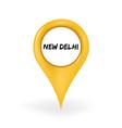 Location New Delhi vector image