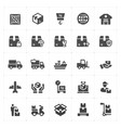 logistic and delivery filled icon vector image vector image