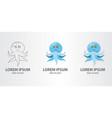 logo blue octopus vector image vector image