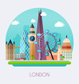 london skyline and landscape buildings the vector image