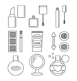 Make up and cosmetics set vector image vector image