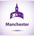 manchester england detailed silhouette vector image