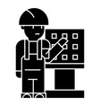 master - foreman - engineer with machine-tool icon vector image vector image
