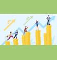 money growing chart progress increase stacks vector image