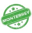 Monterrey green stamp vector image vector image