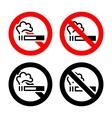 No smoking signs vector image vector image
