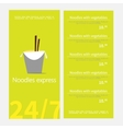 Noodles restaurant menu Template menu of noodles vector image