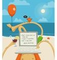 Ocean beach vatation vector image