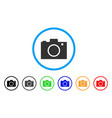 photo camera rounded icon vector image vector image