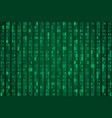 random green hex code stream vector image vector image