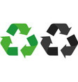 recycling symbol icons vector image vector image