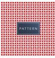 retro mini square geometric red background vector image vector image