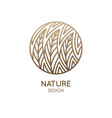 round pattern logo forest vector image