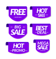 Sale tags labels Special offer hot sale discount vector image