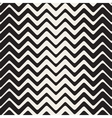 Seamless Black And White ZigZag Rounded vector image