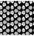 seamless pattern with pomegranate vector image