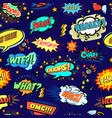 Seamless popart pattern with comic bubbles