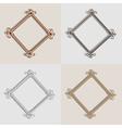 Set For Metal frame Brushed Golden Silver Metal an vector image