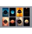 Set of brochures in poligonal style on Mardi Gras vector image vector image