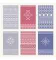 Set of six cards ethnic design vector image vector image