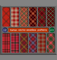 set tartan seamless pattern background vector image vector image