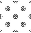 slice of fresh cucumber pattern seamless black vector image vector image
