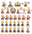 soccer players icons germany vector image