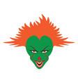 spooky clown face vector image