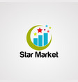 star market logo icon element and template vector image vector image