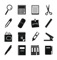 stationery symbols icons set simple style vector image vector image