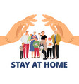 stay at home pandemic concept vector image