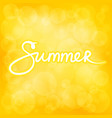 summer yellow bokeh background vector image