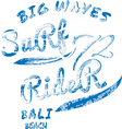 Surf Rider typography t-shirt graphics vector image