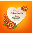 Valentines day typographical background with paper vector image vector image