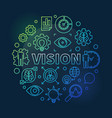 vision colorful line round concept vector image