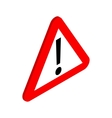 Warning sign icon isometric 3d style vector image